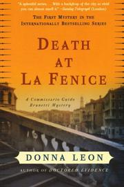 Book Cover for DEATH AT LA FENICE