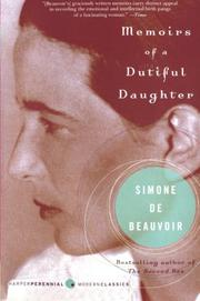 Cover art for MEMOIRS OF A DUTIFUL DAUGHTER