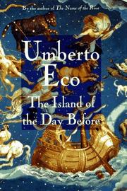 Cover art for THE ISLAND OF THE DAY BEFORE