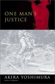 Book Cover for ONE MAN'S JUSTICE