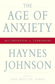 Book Cover for THE AGE OF ANXIETY