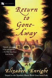 Cover art for RETURN TO GONE-AWAY