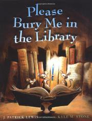 Cover art for PLEASE BURY ME IN THE LIBRARY