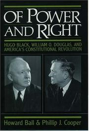 Book Cover for OF POWER AND RIGHT