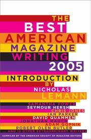Cover art for THE BEST AMERICAN MAGAZINE WRITING 2005