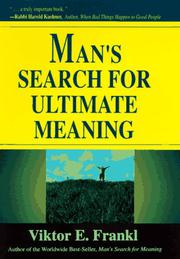 Book Cover for MAN'S SEARCH FOR ULTIMATE MEANING