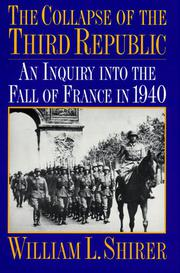Book Cover for THE COLLAPSE OF THE THIRD REPUBLIC