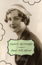 Cover art for DON'T TELL ALFRED