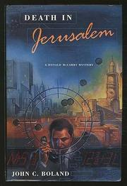 Cover art for DEATH IN JERUSALEM