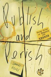 Cover art for PUBLISH AND PERISH