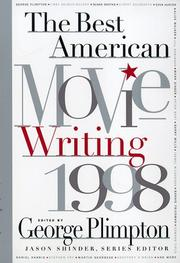 Cover art for THE BEST AMERICAN MOVIE WRITING 1998