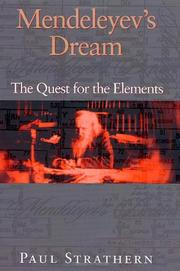 Book Cover for MENDELEYEV'S DREAM