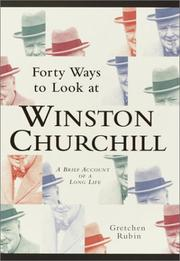 Cover art for FORTY WAYS TO LOOK AT WINSTON CHURCHILL