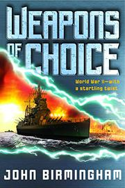 Cover art for WEAPONS OF CHOICE