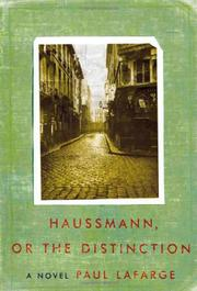 Cover art for HAUSSMANN, OR THE DISTINCTION