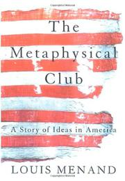Cover art for THE METAPHYSICAL CLUB