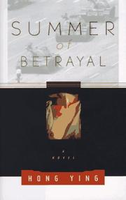 Cover art for SUMMER OF BETRAYAL