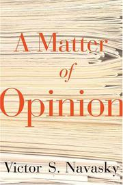 Cover art for A MATTER OF OPINION