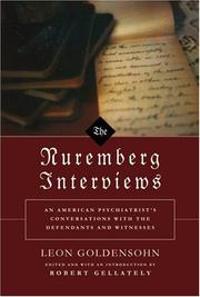 Cover art for THE NUREMBERG INTERVIEWS