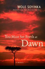 Book Cover for YOU MUST SET FORTH AT DAWN