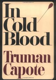 Book Cover for IN COLD BLOOD