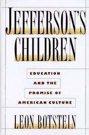 Cover art for JEFFERSON'S CHILDREN