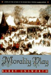 Book Cover for MORALITY PLAY