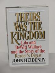 Book Cover for THEIRS WAS THE KINGDOM