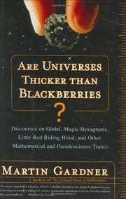 Cover art for ARE UNIVERSES THICKER THAN BLACKBERRIES?
