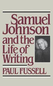 Book Cover for SAMUEL JOHNSON AND THE LIFE OF WRITING
