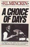 Cover art for A CHOICE OF DAYS