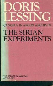 Cover art for THE SIRIAN EXPERIMENTS