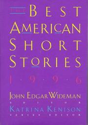 Cover art for THE BEST AMERICAN SHORT STORIES 1996