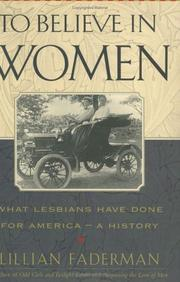 Cover art for TO BELIEVE IN WOMEN
