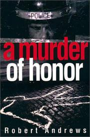 Book Cover for A MURDER OF HONOR