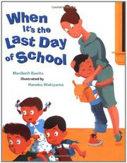 Book Cover for WHEN IT'S THE LAST DAY OF SCHOOL