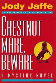 Book Cover for CHESTNUT MARE, BEWARE