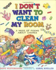 Book Cover for I DON'T WANT TO CLEAN MY ROOM