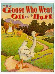 Book Cover for THE GOOSE WHO WENT OFF IN A HUFF