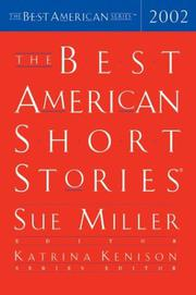 Cover art for THE BEST AMERICAN SHORT STORIES 2002