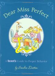 Cover art for DEAR MISS PERFECT