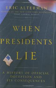Cover art for WHEN PRESIDENTS LIE