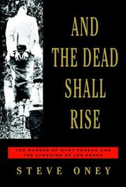 Book Cover for AND THE DEAD SHALL RISE