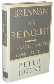 Cover art for BRENNAN VS. REHNQUIST