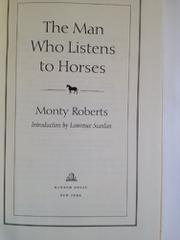 Cover art for THE MAN WHO LISTENS TO HORSES