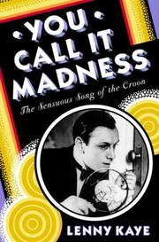 Book Cover for YOU CALL IT MADNESS