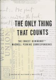 Cover art for THE ONLY THING THAT COUNTS