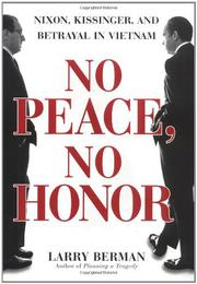 Book Cover for NO PEACE, NO HONOR