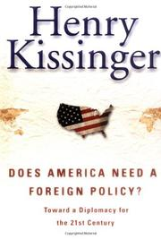 Book Cover for DOES AMERICA NEED A FOREIGN POLICY?