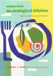 Book Cover for RECIPES FROM AN ECOLOGICAL KITCHEN